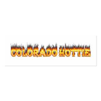 Colorado Hottie Fire And falesm Business Card Templates