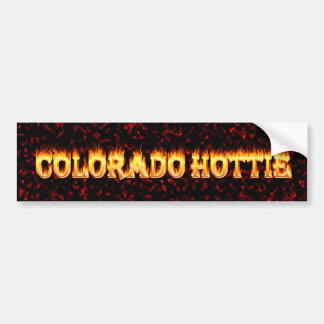 Colorado Hottie Fire and Flames Bumper Sticker