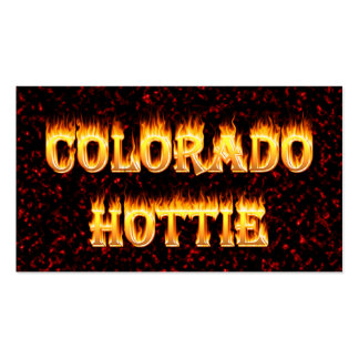 Colorado Hottie Fire and Flames Business Cards