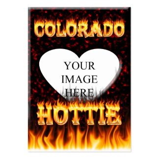 Colorado hottie fire and flames design. pack of chubby business cards