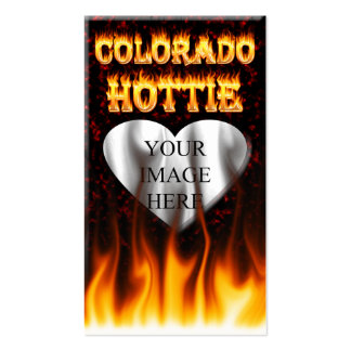 Colorado hottie fire and flames design. pack of standard business cards