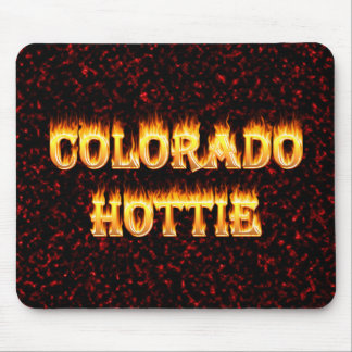 Colorado Hottie Fire and Flames Mouse Pad