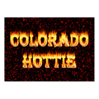 Colorado Hottie Fire and Flames Pack Of Chubby Business Cards