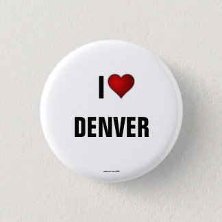 COLORADO: I Love Denver pinback button