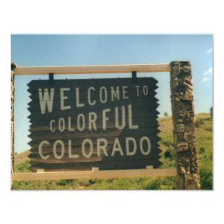 "Colorado 4.25"" X 5.5"" Invitation Card"
