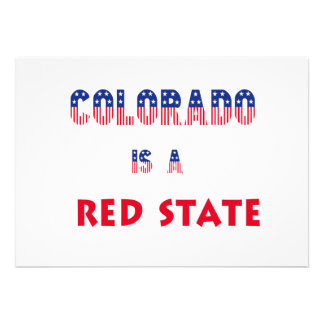 Colorado is a Red State Personalized Invitation