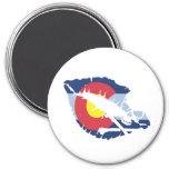 colorado kiss 7.5 cm round magnet