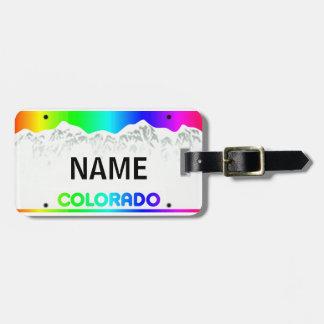 Colorado License Plate - Colorful Edition luggage Luggage Tag
