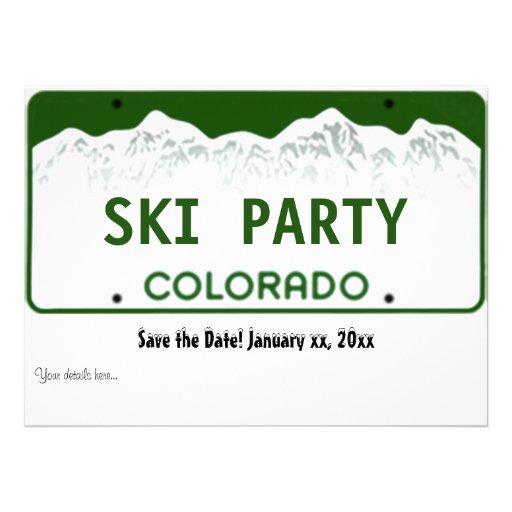 Colorado License Plate - Event invitation card