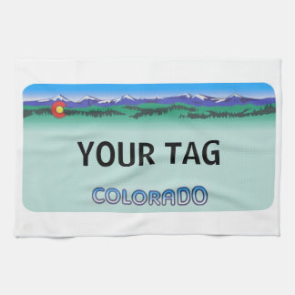Colorado License Plate - Modern Tea Towel