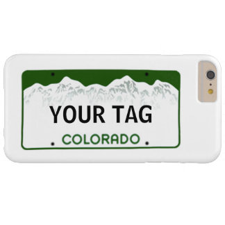 Colorado License Plate ~ Standard Barely There iPhone 6 Plus Case