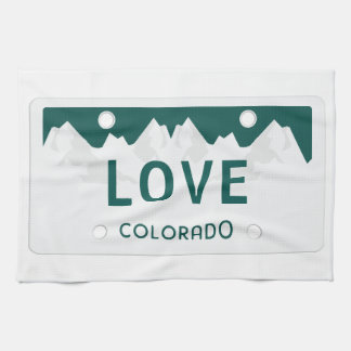 Colorado License Plate Tea Towel