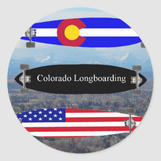 Colorado Longboarding Classic Round Sticker