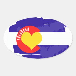 Colorado Love Oval Sticker
