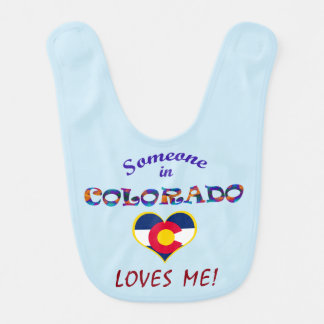 Colorado Loves Me Baby Bib