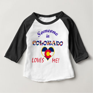 Colorado Loves Me Heart Flag Baby T-Shirt