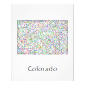 Colorado map 11.5 cm x 14 cm flyer