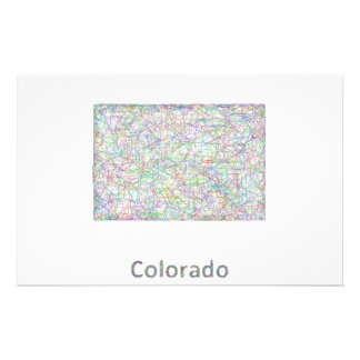Colorado map 14 cm x 21.5 cm flyer