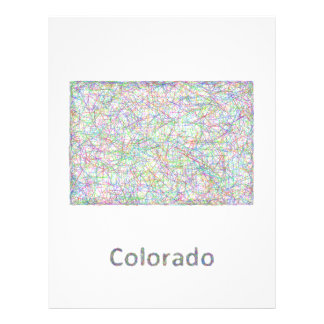Colorado map 21.5 cm x 28 cm flyer