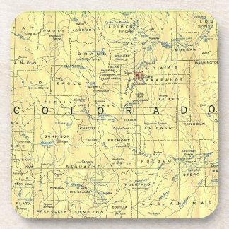 Colorado Map Coasters