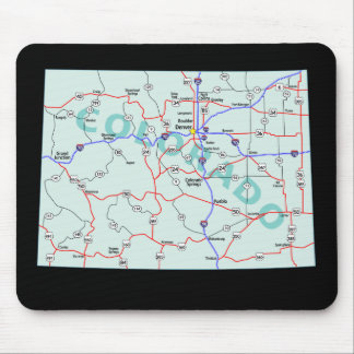 Colorado Map Mousepad