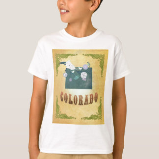 Colorado Map With Lovely Birds T-shirts