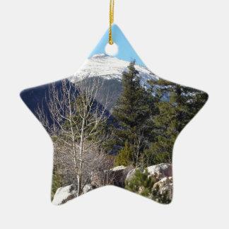 Colorado mountain christmas ornament