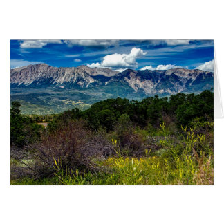Colorado Mountain Landscape Postage Stamp Greeting Card