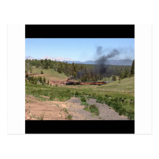 Colorado Mountain Steam Engine Train Postcard