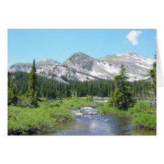 Colorado Mountain Stream Beauty Greeting Card