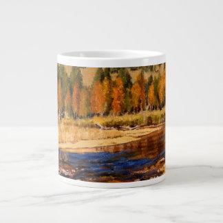 Colorado Mountain Stream Impressionistic Oil Paint Large Coffee Mug