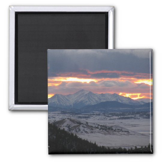 Colorado Mountain Sunset Magnet