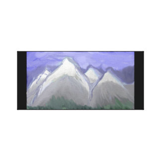 Colorado Mountains (Abstract Watercolor) Canvas Print