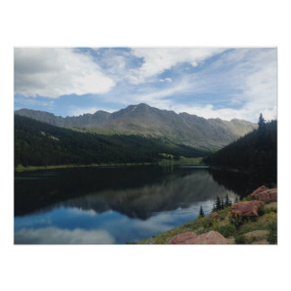 Colorado Mountains and Lake Reflection Poster