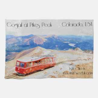 Colorado Mountains dish towel