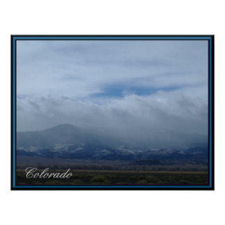Colorado Mountains In The Clouds Poster