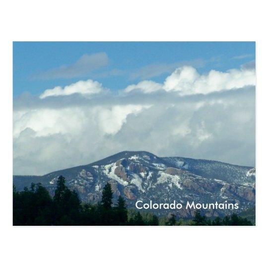 Colorado Mountains Postcard