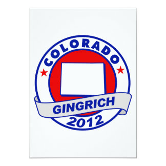 Colorado Newt Gingrich Personalized Announcement