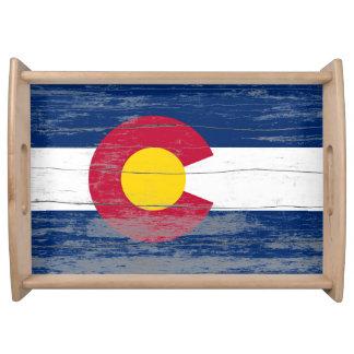 Colorado Old Flag Serving Tray