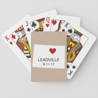 Colorado Personalized Town Playing Cards