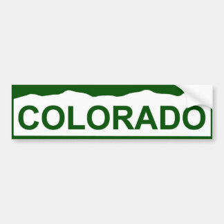 colorado plate new - COLORADO Bumper Sticker