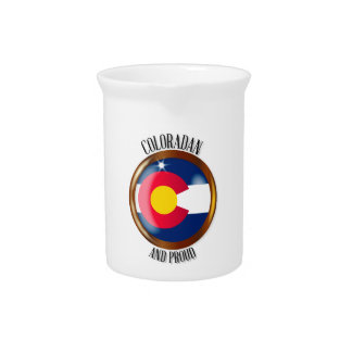 Colorado Proud Flag Button Beverage Pitcher
