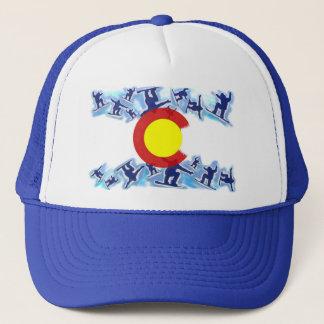 Colorado proud snowboarder flag hat