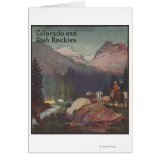 Colorado Railroad Promotional Poster Card