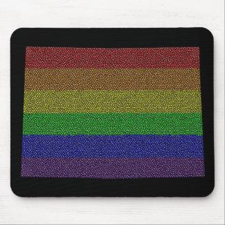 Colorado Rainbow Pride Flag Mosaic Mouse Pad