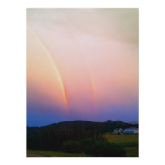 Colorado Rainbows and Mountains Poster