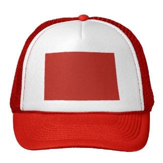 Colorado Red Snap Back Mesh Trucker Hat