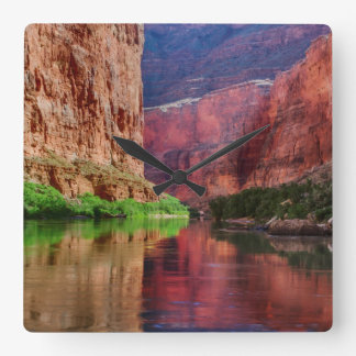 Colorado river in Grand Canyon, AZ Square Wall Clock