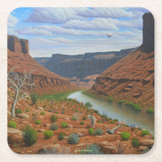 Colorado River Square Paper Coaster