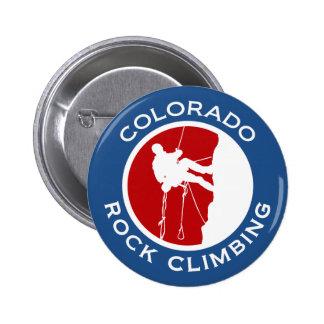 Colorado Rock Climbing 6 Cm Round Badge